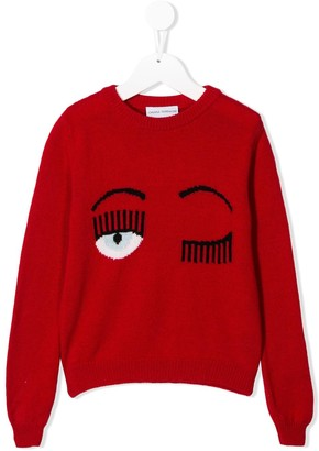 Chiara Ferragni Kids relaxed-fit Flirting jumper