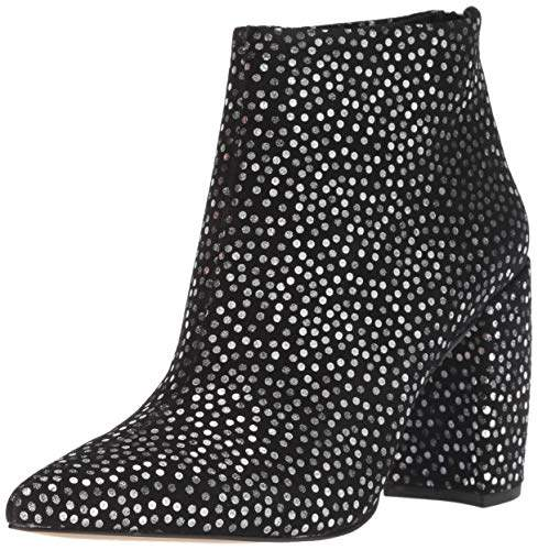 2f5cef856 Black Ankle Boots Silver Toe - ShopStyle