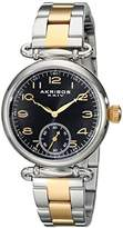Akribos XXIV Women's AK806TTG Quartz Movement Watch with Black Dial and Two Tone Stainless Steel Bracelet