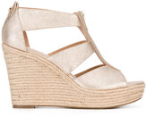 MICHAEL Michael Kors zip detail wedge sandals - women - Leather/rubber - 6