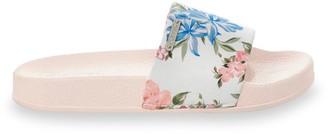 Kaporal Tacota Pool Sliders in Floral Print