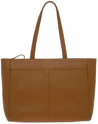 Trent Nathan Venice Double Handle Tan Tote Bag