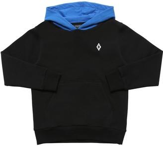 Marcelo Burlon County of Milan Logo Embroidery Cotton Sweatshirt Hoodie