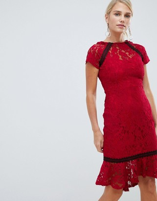 Paper Dolls lace frill hem dress