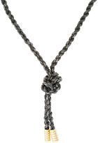 Giles & Brother Milliegrain Leather Rope Lariat