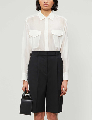 Rag & Bone Florian cotton-blend sheer tunic