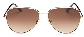 Tom Ford Unisex Brow Bar Aviator Sunglasses, 59mm