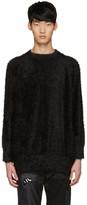 Diet Butcher Slim Skin Ssense Exclusive Black Shaggy Loose Pullover