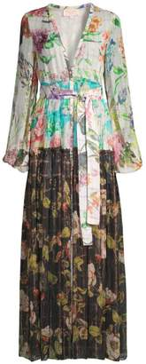 Rococo Sand Double Print Floral Dress