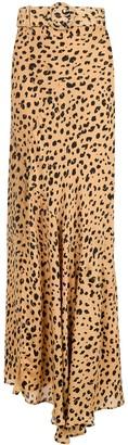 Nicholas Leopard Print Maxi Skirt