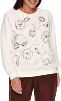 Alfred Dunner Twilight Point Long Sleeve Crew Neck T-Shirt-Plus