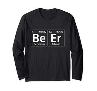 Funny Beer Scientist Chemist Cheers Academic Student Gift Long Sleeve T-Shirt