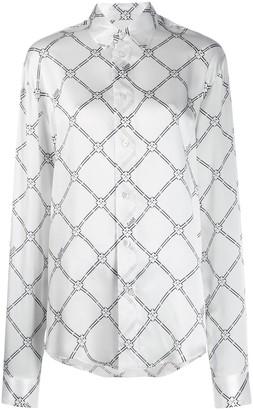 GmbH Geometric Digital-print silk shirt