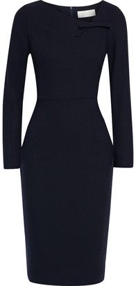 Goat Justine Bow-embellished Wool-crepe Dress