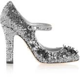 Dolce & Gabbana Sequined Velvet Mary Jane Pumps