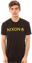 Nixon The Basis Regular Tee in Black & Yellow