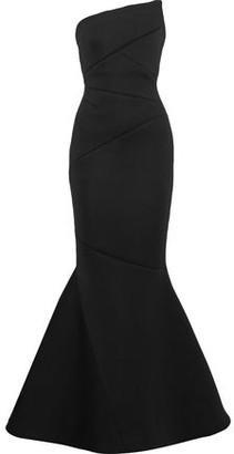 Rachel Gilbert Adelia Strapless Neoprene Gown