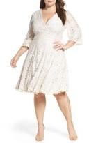 Eliza J Plus Size Women's Lace Fit & Flare Dress