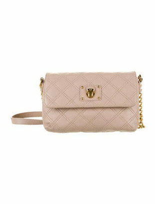 Marc Jacobs Leather Quilted Crossbody Bag Mauve
