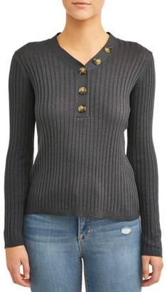 Willow & Wind Women's Asymmetric Button Front Sweater