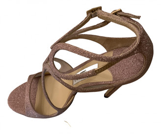 Jimmy Choo Lance Beige Glitter Sandals