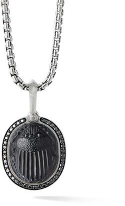 David Yurman Petrvs Black Onyx & Black Diamond Scarab Amulet