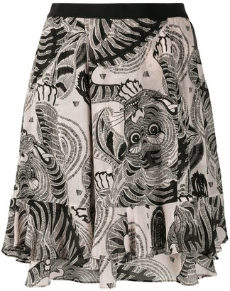 Dorothee Schumacher Graphic-Print Flared Skirt