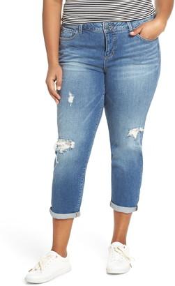 SLINK Jeans Rena Distressed Boyfriend Jeans