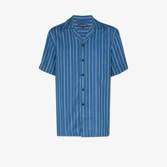 Frescobol Carioca vertical stripe tencel shirt