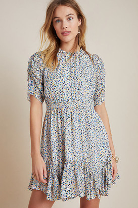 Shoshanna Alexandrina Petite Mini Dress By in Blue Size 0 p