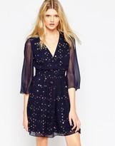 French Connection Million Stars V-Neck Flared Dress