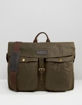 Barbour Waxed Retriever Messenger Bag Brown