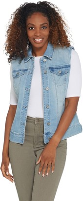 Laurie Felt Classic Denim Button Front Vest