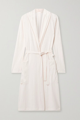 Skin Kathie Organic Pima Cotton-jersey Robe - Blush