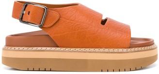 Sofie D'hoore Open Toe Platform Sandals