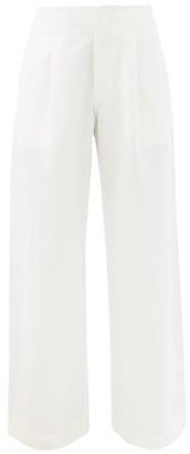 Apiece Apart Enchanta High-waist Linen-blend Wide-leg Trousers - Cream