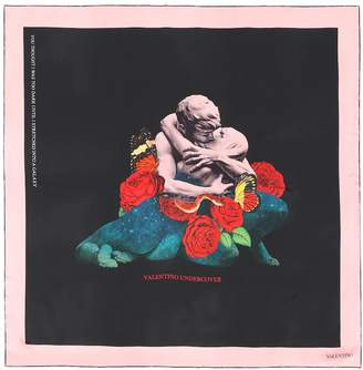 Valentino x Undercover floral silk scarf