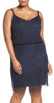 Adrianna Papell Plus Size Women's Beaded Blouson Tank Dress