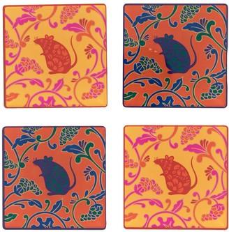 Shanghai Tang Rat Acrylic Coasters (Set Of 4)