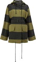 Dries Van Noten striped hooded jacket