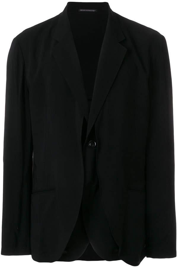 Yohji Yamamoto single-breasted blazer