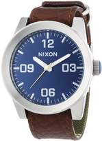 Nixon Men's Corporal A2431656 Brown Leather Quartz Watch with Dial