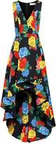Alice + Olivia Aveena Pleated Floral-print Cotton-blend Dress