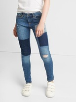 Gap High stretch patchwork super skinny jeans