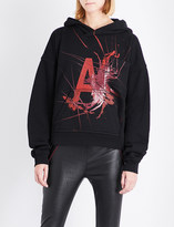 Haider Ackermann Contrast-panel cotton-jersey hoody
