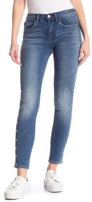 Blanknyc Denim Studded Side High Rise Skinny Jeans