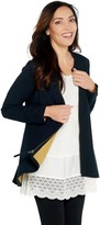 Logo By Lori Goldstein LOGO Lounge by Lori Goldstein Two-Tone Terry Zip-Front Jacket