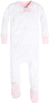 Burt's Bees Baby Baby Girls Sleeper Pajamas Zip Front Non-Slip Footed Sleeper PJs 100% Organic Cotton