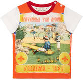 Gucci Baby vintage print cotton t-shirt