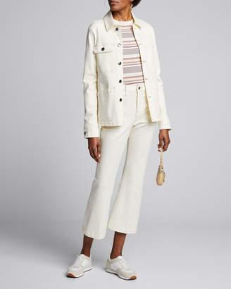 Frame Button-Front Denim Carpenter Jacket